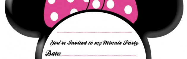 630x200 Free Printable Minnie Mouse Birthday Party Invitations