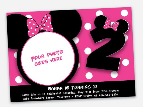 568x426 Minnie Mouse Birthday Invitation Templates Free