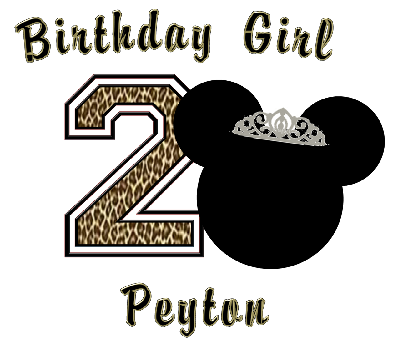 1289x1100 Minnie Mouse Leopard Birthday Shirt