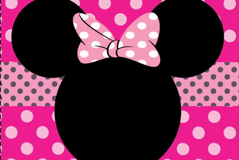 805x537 Templates Baby Minnie Mouse 1st Birthday Invitations