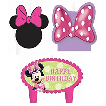 350x350 Minnie Mouse Birthday Cake Candles Set Decoration