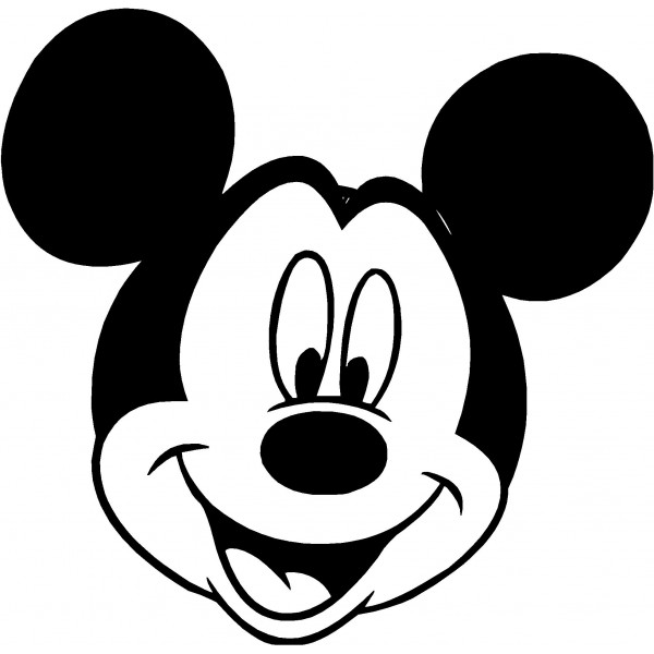 600x600 Mickey And Minnie Black And White Clipart