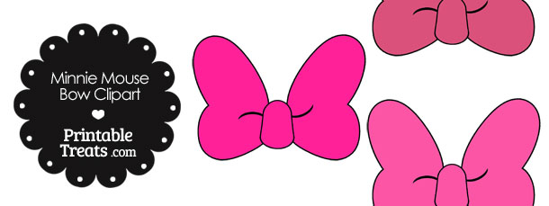610x229 Minnie Mouse Bow Clipart In Shades Of Pink Printable