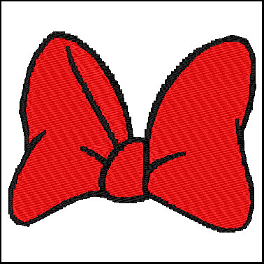 378x378 Minnie Mouse Bow Embroidery Design Hqembroidery On Artfire