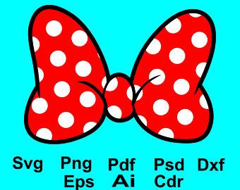 340x270 Minnie Bow Svg Etsy