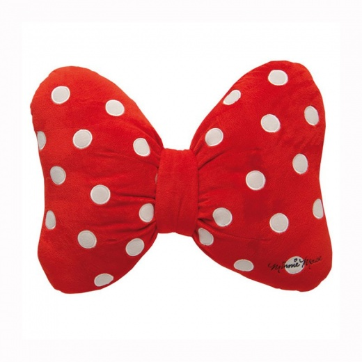 520x520 Disney Minnie Mouse Bow Shaped Cushion Children's Bedding