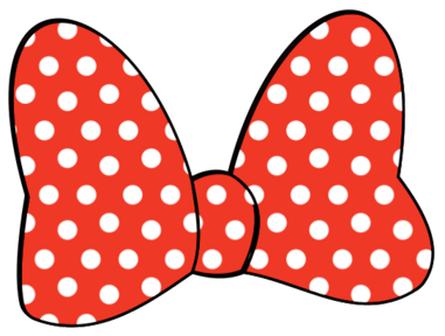900x680 Red Minnie Mouse Bow Clipart