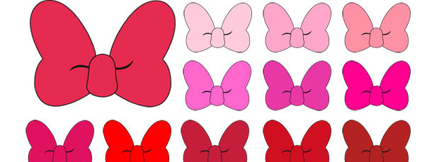 620x229 100 Colors Solid Minnie Mouse Bow Clipart Collection