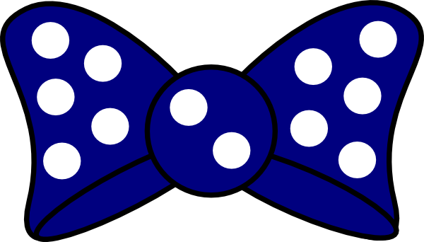 600x342 Minnie Blue Bow Clip Art