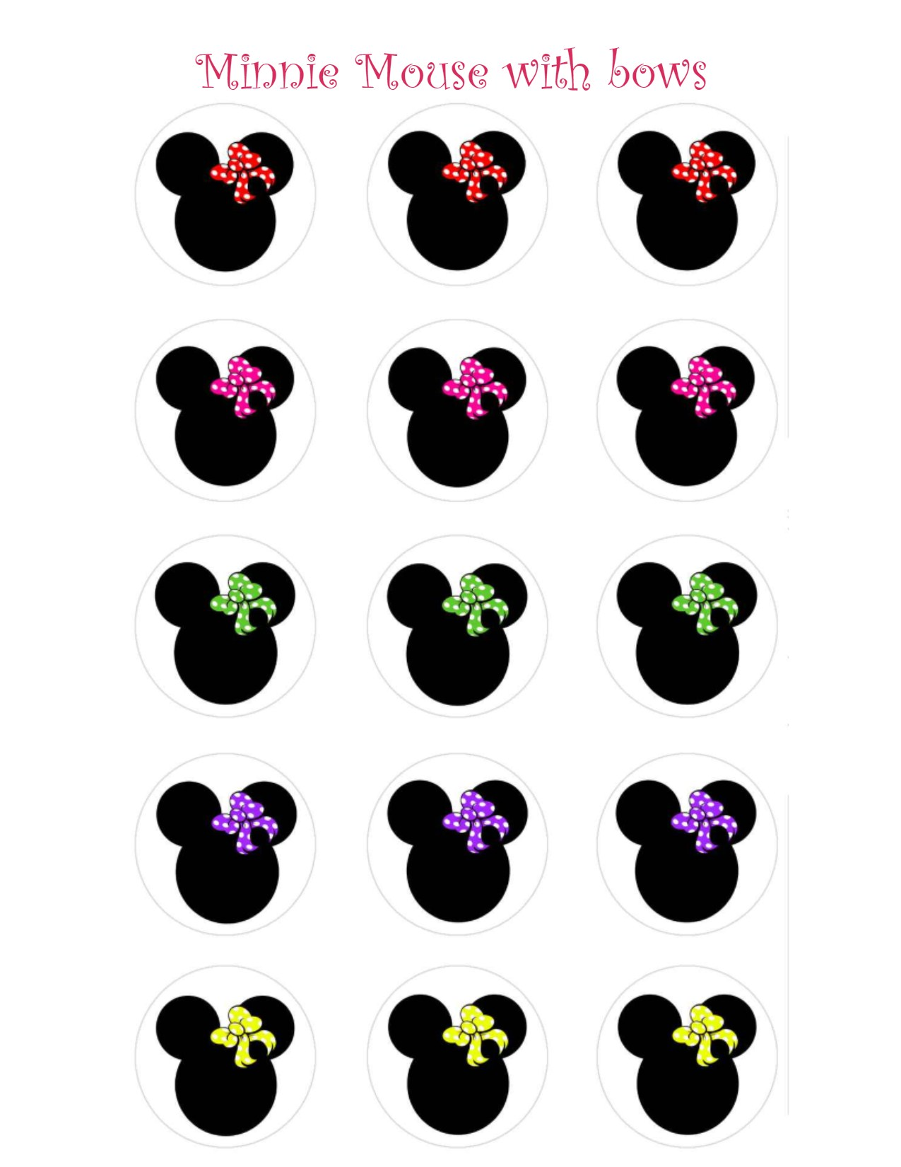 1275x1650 Minnie Mouse With Bows Animal Clipart Panda