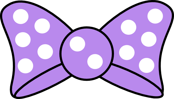 600x342 Minnie Purple Bow Clip Art