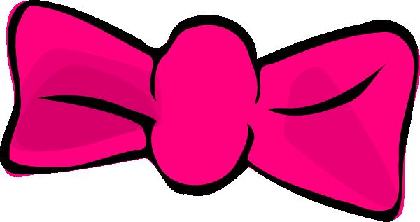 600x317 Pink Hair Bow Clip Art