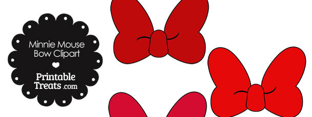 610x229 Red Minnie Mouse Bow Clipart