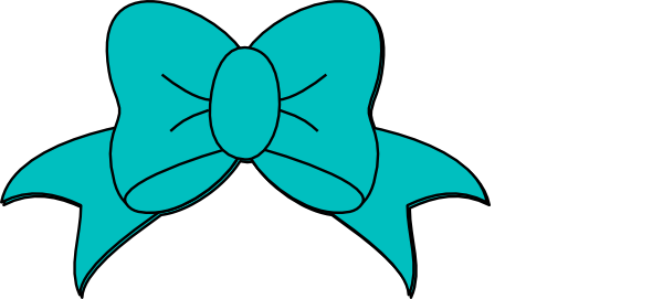 600x271 Teal Minnie Mouse Bow Clip Art