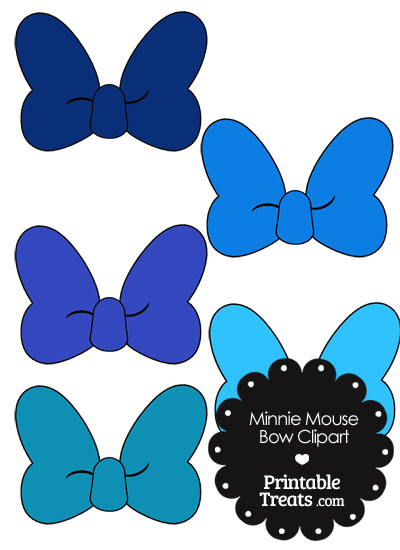 400x550 Minnie Mouse Bow Clipart In Shades Of Blue From Printabletreats