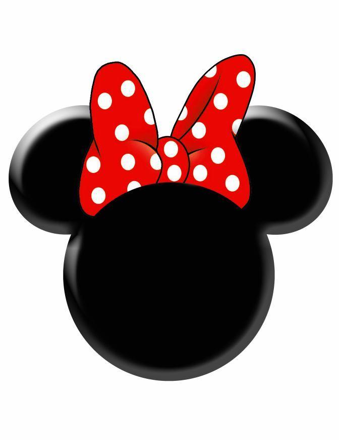672x870 Minnie Mouse Head Vector