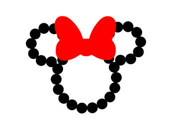 340x270 Minnie Mouse Bow Svg Etsy