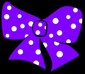 299x261 Polka Dot Hair Bow Clip Art