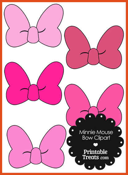 414x564 Minnie Mouse Bow Template Moa Format