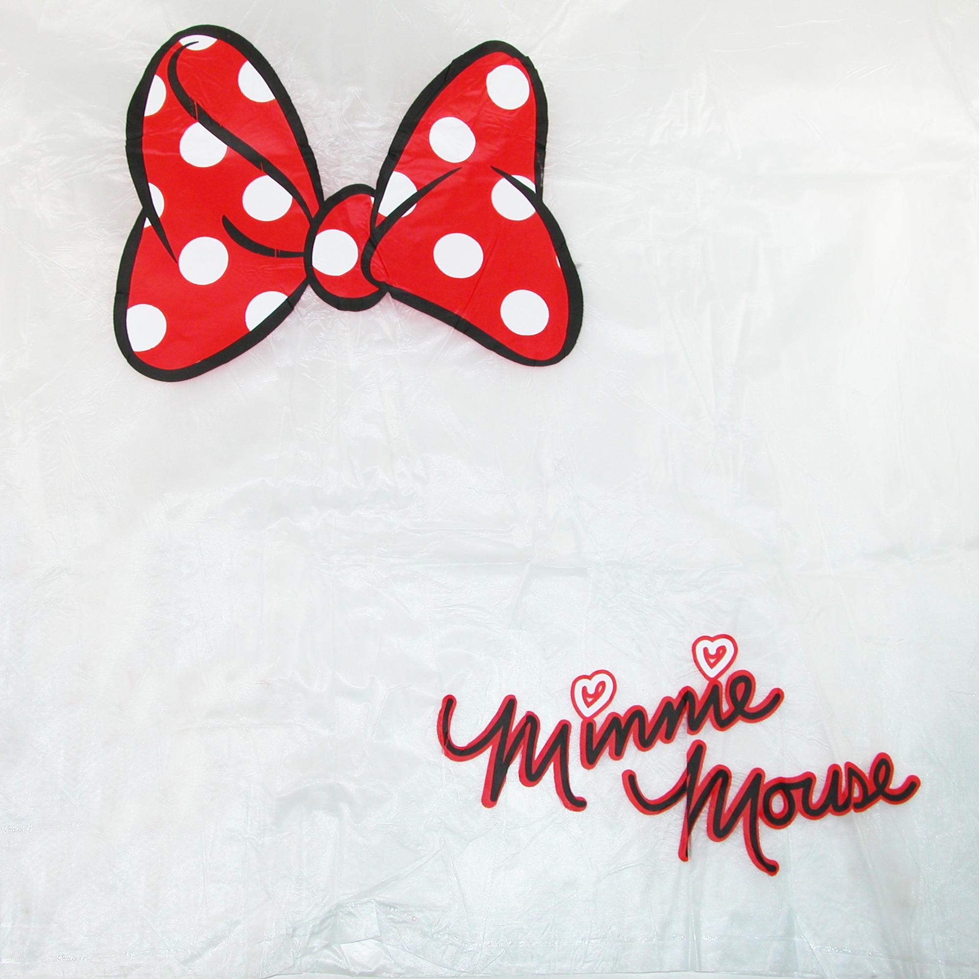 2000x2000 Disney Kids' Minnie Mouse Bow Clear Rain Poncho