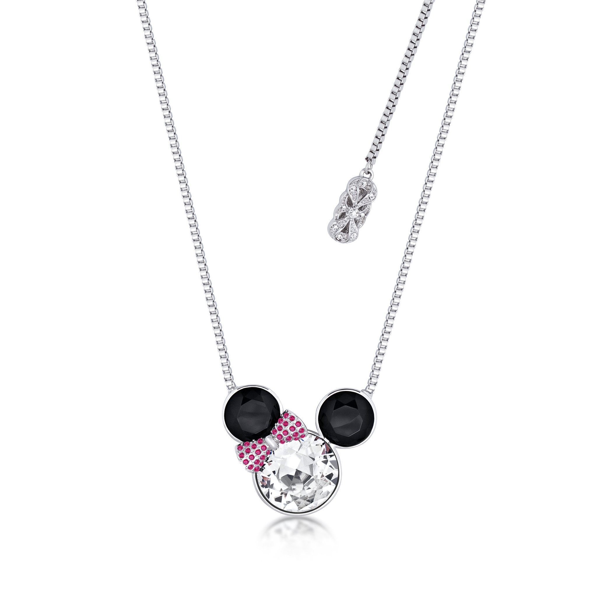 2048x2048 Disney Minnie Mouse Bow Crystal Necklace Couture Kingdom
