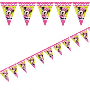 305x305 Disney Minnie Mouse Bow Tique Party Flag Bunting