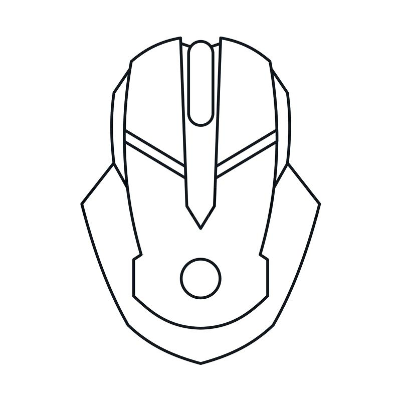 800x800 Outline Of A Mouse
