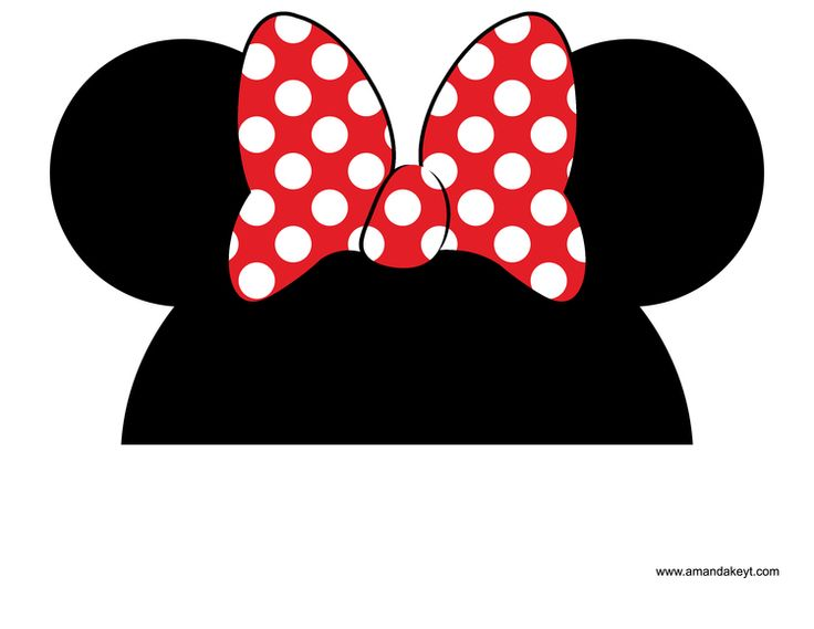 Minnie Mouse Bow Template Clipart  Free Download Best Minnie Mouse