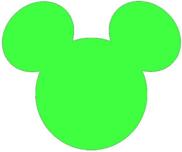 626x521 Green mickey ears clipart