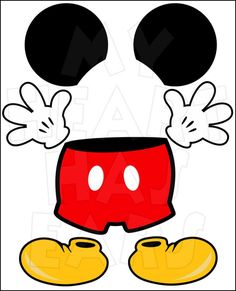236x291 Moldes Shorts, Luvas e Sapatos do Mickey Mickey mouse, Mice and