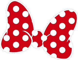 320x248 Lazo De Color Blanco Y Rojo Para Imprimir Lazo Minnie Mouse Para