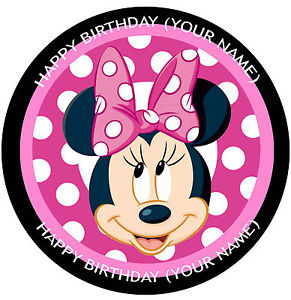 291x300 Minnie Mouse Large Face Cake Topper Edible Icingrice Paper
