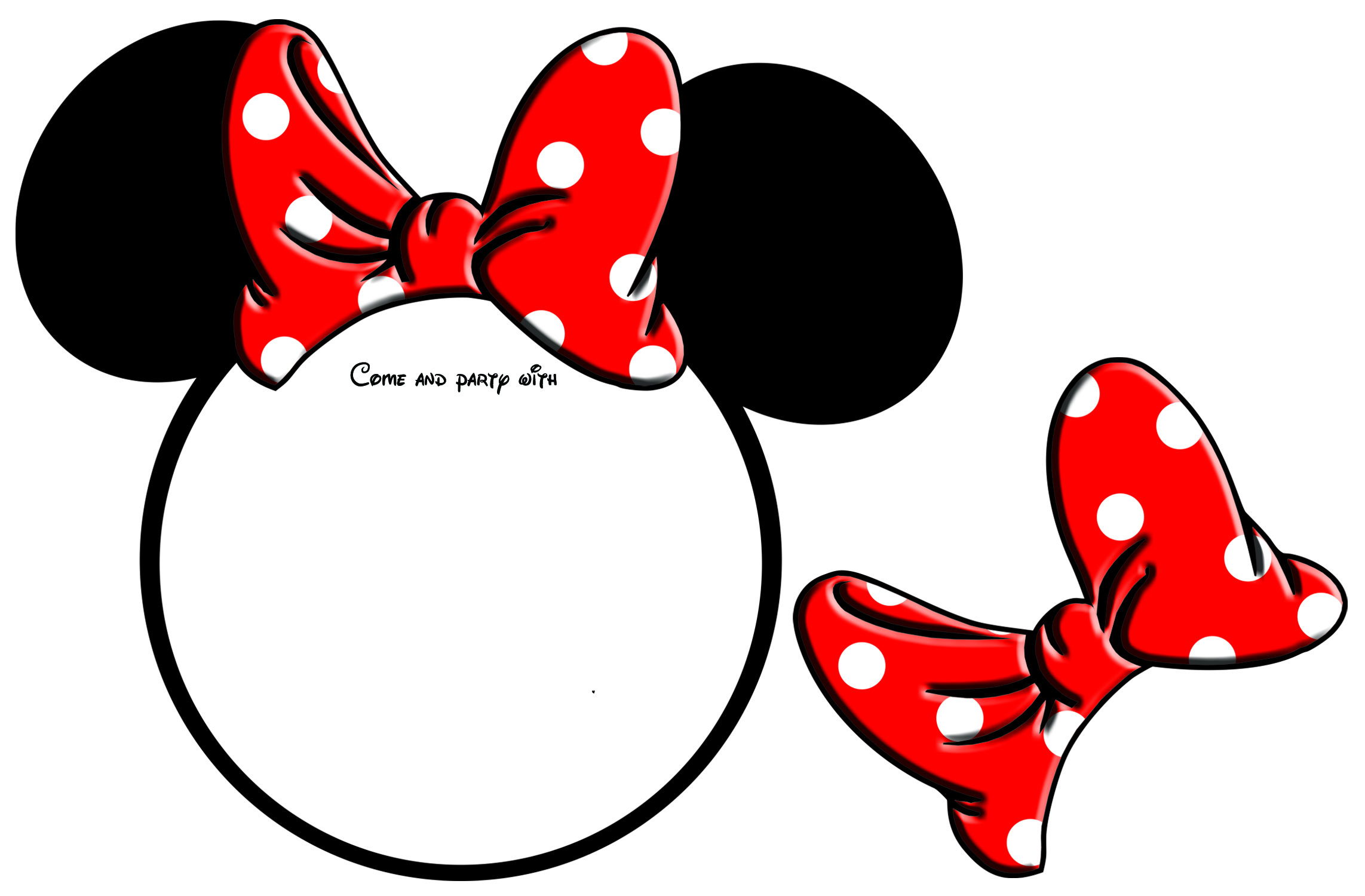 736x614 Minnie Mouse Face Clipart Outline 2 2285x1500 10 Year Old Birthday Invitations Dolanpedia Ideas