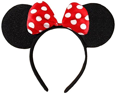 466x379 Dangerousfx Black With Red Bow And White Polka Dot Minnie Mouse
