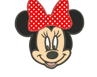 340x270 Minnie Mouse Head Applique