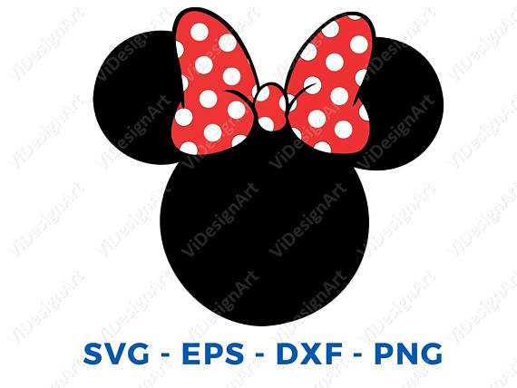570x428 Minnie Mouse Head Svg Dxf Png Vector Cut File Cricut Design