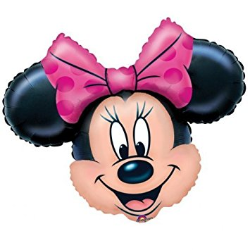 355x355 Minnie Mouse Head Supershape Foil Balloon Amazon.co.uk Toys Amp Games