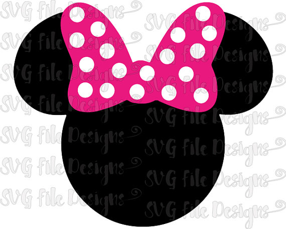 570x456 Minnie Mouse Head And Ears With Bow Disney Layered Cutting File
