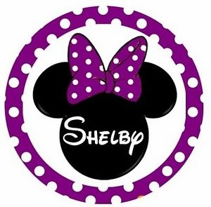 300x295 Minnie Mouse Head Purple Personalized Any Name Bottle Cap Necklace