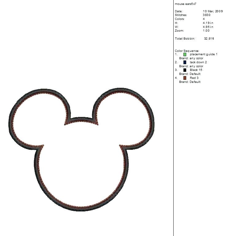 742x769 Minnie Mouse Outline Mickey Mouse Head Silhouette Minnie Mouse