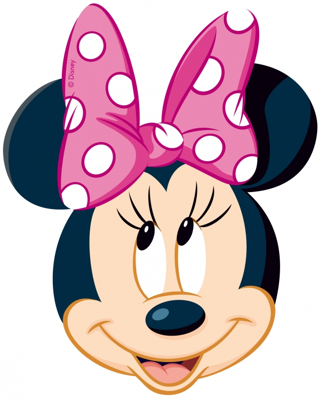 640x800 Mouse Minnie Outline Clipart