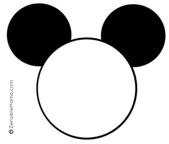 590x504 Mickey Mouse Head Template For Invitations Minnie Mouse Silhouette