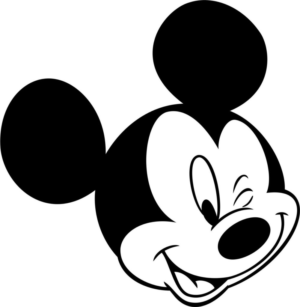 1001x1024 Best Photos Of Mickey Mouse Head Coloring Pages