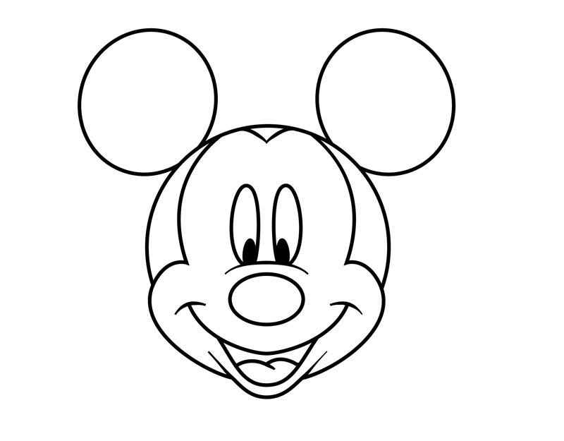 Minnie Mouse Outline | Free download best Minnie Mouse Outline on ...