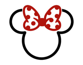 Minnie Mouse Outline Head