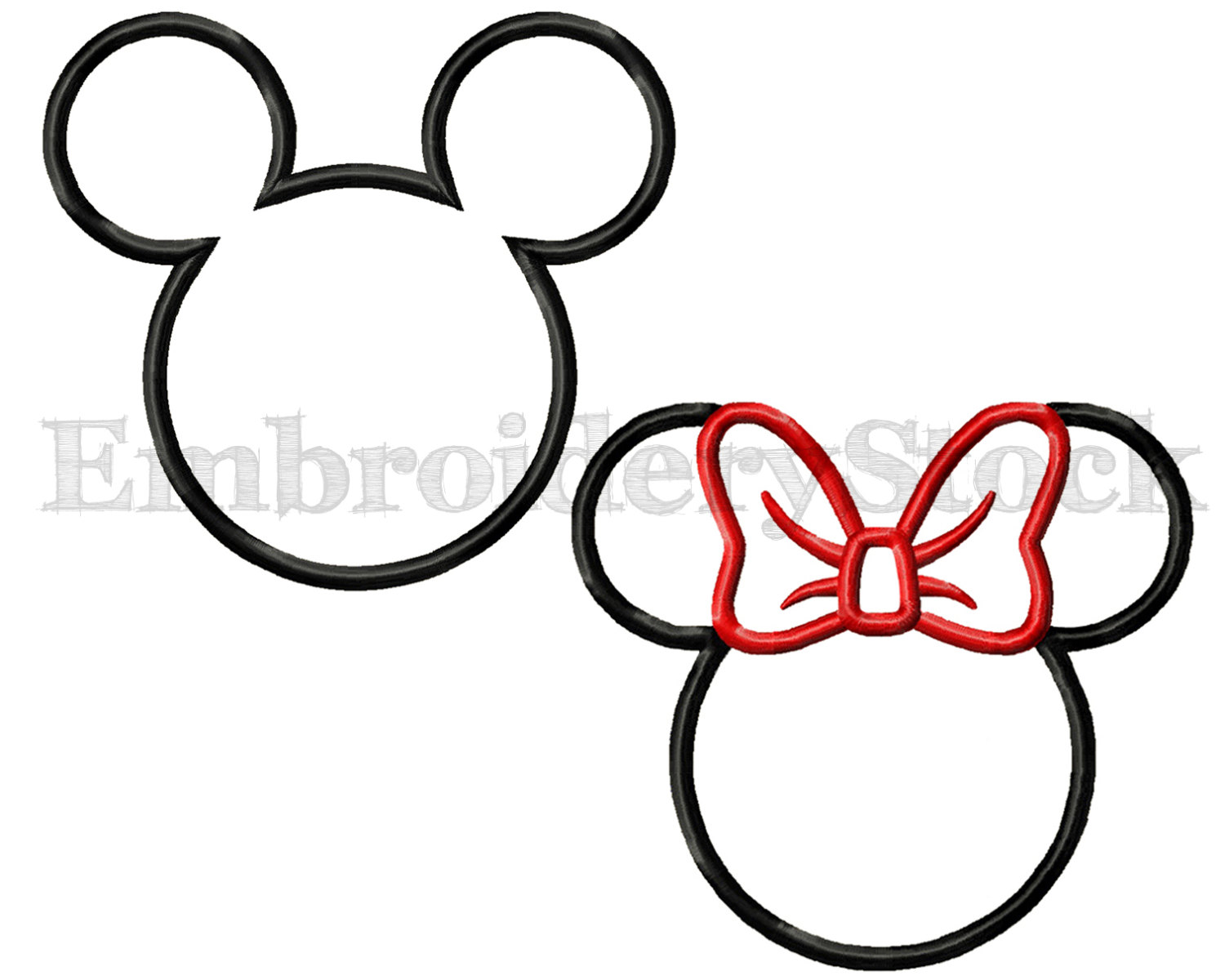 1500x1200 Minnie Mouse Applique And Mickey Mouse Applique Machine Embroidery
