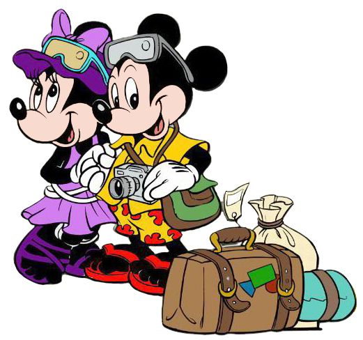 521x488 Mickey And Minnie Travel Clipart Disney Travel
