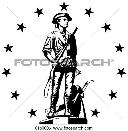 450x461 Minuteman Clipart