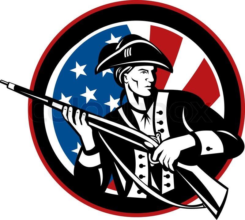 800x718 American Minuteman Militia Betsy Ross Flag Stock Photo Colourbox