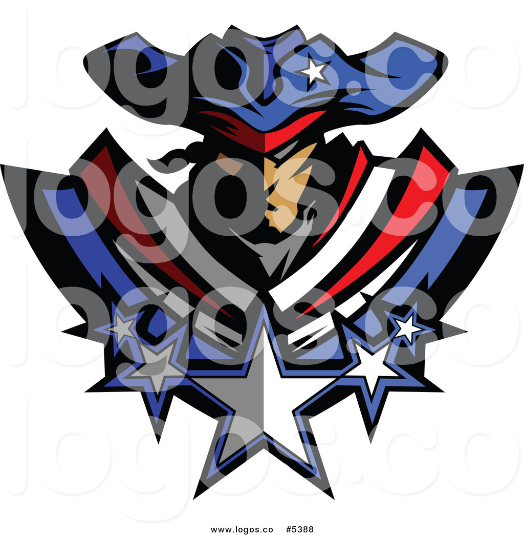 1024x1044 Royalty Free Vector Of A Logo Of A Battle Patriot With Stars By